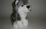 00150 Husky Pup, 8.5 Inch H, Sitting, With Beans