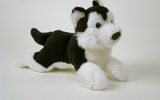 00160 Husky Plush Magnets, 6.5 Inch, B And W